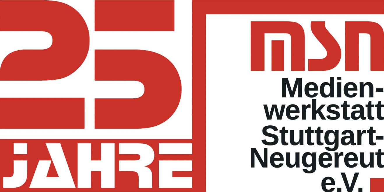 Das 25 Jahre Jubiläums-Logo der Medienwerkstatt Stuttgart-Neugereut